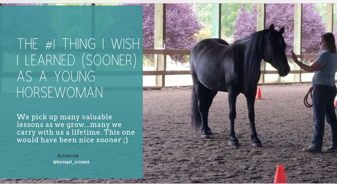 The #1 Thing I Wished I Learned As a Young Horsewoman. Learn from my mistakes to accelerate your horse goals